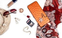 Accesorios de moda brillantes para las mujeres Imagen de archivo