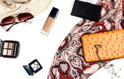 Accesorios de moda brillantes para las mujeres Imágenes de archivo libres de regalías