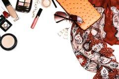 Accesorios de moda brillantes para las mujeres Foto de archivo libre de regalías