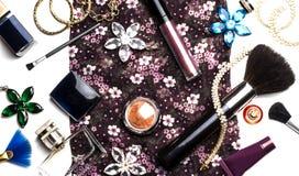 Accesorios de moda brillantes para las mujeres Imagen de archivo libre de regalías
