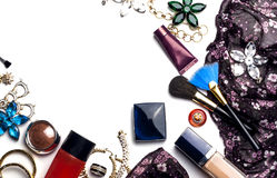 Accesorios de moda brillantes para las mujeres Fotografía de archivo