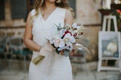 Accesorios de novia y del novio imagen de archivo