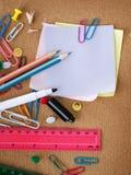 Accesorios de Stationery.School Imagen de archivo