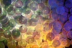 Accesorios decorativos para coser y el bordado Forma redonda de las lentejuelas brillantes Foto de archivo libre de regalías