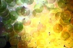 Accesorios decorativos para coser y el bordado Forma redonda de las lentejuelas brillantes Fotografía de archivo libre de regalías
