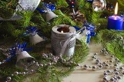 Accesorios del Año Nuevo y de la Navidad Imagenes de archivo