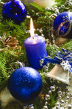 Accesorios del Año Nuevo y de la Navidad Fotografía de archivo