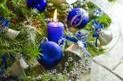 Accesorios del Año Nuevo y de la Navidad Fotografía de archivo libre de regalías