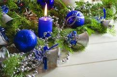 Accesorios del Año Nuevo y de la Navidad Foto de archivo