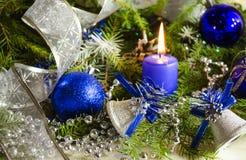 Accesorios del Año Nuevo y de la Navidad Fotos de archivo libres de regalías