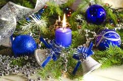 Accesorios del Año Nuevo y de la Navidad Imagen de archivo