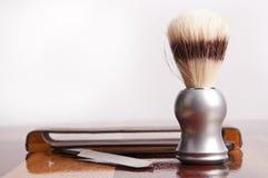 Accesorios del afeitado del `s del hombre Fotografía de archivo libre de regalías