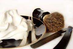 Accesorios del afeitado del `s del hombre Fotos de archivo libres de regalías