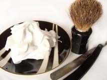 Accesorios del afeitado del `s del hombre Fotografía de archivo