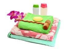 Accesorios del baño. Imagen de archivo libre de regalías