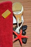 Accesorios del baño fotos de archivo