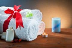 Accesorios del baño y ambiente termal Imagen de archivo