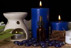 Accesorios del balneario para los tratamientos del masaje Imagenes de archivo