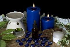 Accesorios del balneario para los tratamientos del masaje Imagen de archivo libre de regalías