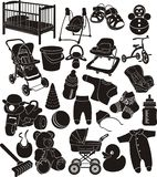 accesorios del bebé Fotos de archivo libres de regalías