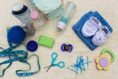 Accesorios del bebé Fotos de archivo