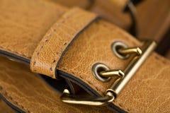 Accesorios del bolso de cuero Fotos de archivo libres de regalías