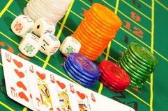 Accesorios del casino Fotografía de archivo libre de regalías