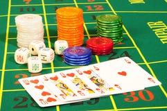 Accesorios del casino Foto de archivo