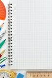 Accesorios del cuaderno y de la oficina Imagen de archivo libre de regalías