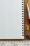 Accesorios del cuaderno y de la oficina Fotografía de archivo libre de regalías