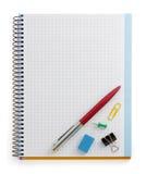 Accesorios del cuaderno y de la oficina Fotos de archivo