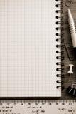 Accesorios del cuaderno y de la oficina Foto de archivo