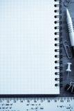 Accesorios del cuaderno y de la oficina Fotografía de archivo