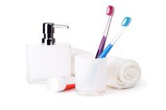 Accesorios del cuarto de baño Imagenes de archivo