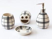 Accesorios del cuarto de baño Imagen de archivo libre de regalías