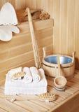 Accesorios del cuarto de baño del vapor Foto de archivo libre de regalías