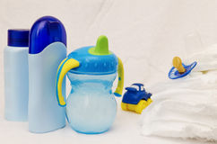 Accesorios del cuidado del bebé Imagenes de archivo