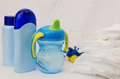 Accesorios del cuidado del bebé Fotos de archivo