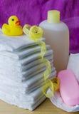 Accesorios del cuidado del bebé Imagen de archivo