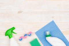 Accesorios del fondo del concepto de la limpieza Fotografía de archivo libre de regalías