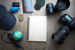 Accesorios del fotógrafo fotografía de archivo