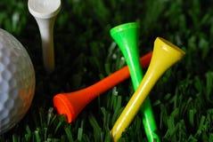 Accesorios del golf Fotografía de archivo libre de regalías
