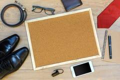 Accesorios del hombre de negocios Fotos de archivo libres de regalías