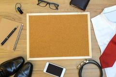 Accesorios del hombre de negocios Imagen de archivo libre de regalías