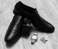 Accesorios del hombre de negocios Foto de archivo libre de regalías