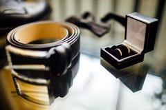 Accesorios del hombre de negocios Estilo del ` s del hombre Accesorios del ` s de los hombres: ` S de los hombres Imágenes de archivo libres de regalías