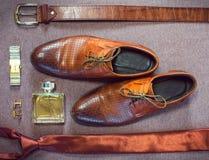 Accesorios del hombre de negocios Estilo del ` s del hombre Accesorios del ` s de los hombres Fotografía de archivo