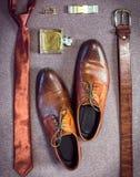 Accesorios del hombre de negocios Estilo del ` s del hombre Accesorios del ` s de los hombres Fotos de archivo