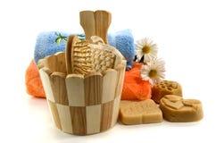 Accesorios del jabón y del baño Imagen de archivo