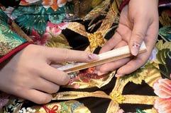 Accesorios del kimono Imagenes de archivo
